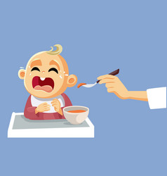 bacrying refusing to eat vector image