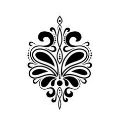 beautiful luxury pattern with curls ornament for vector image