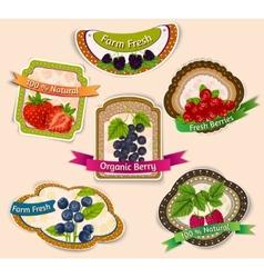 Berries emblems set vector image
