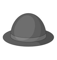 bowler hat icon monochrome vector image