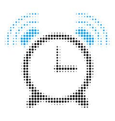 Buzzer halftone icon vector