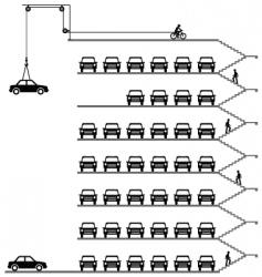 Car park vector