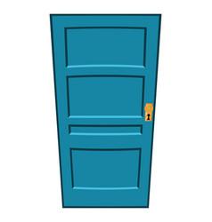 cartoon door symbol icon design vector image