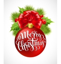 christmas ball with lettering vector image