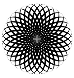 Circular spiral flower vector image