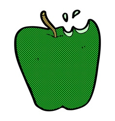 comic cartoon apple vector image