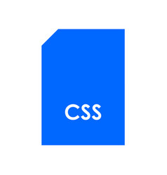 css file format icon vector image