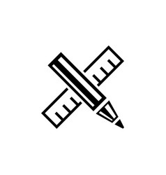 design drawing tools flat icon vector image