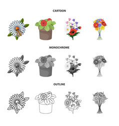 Design spring and wreath logo set of vector