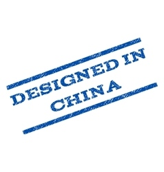 Designed In China Watermark Stamp vector