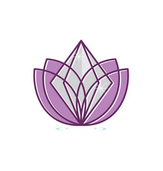 Diamond lotus vector