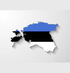estonia map with shadow effect vector image