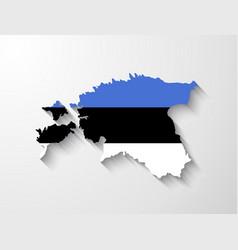 Estonia map with shadow effect vector