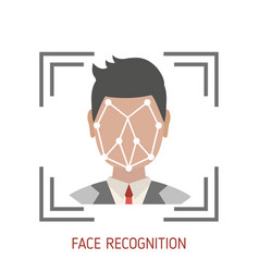 face recognition concept vector image