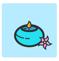 Flat color aromatherapy icon vector