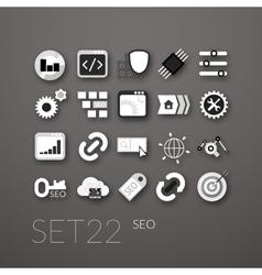 Flat icons set 22 vector image