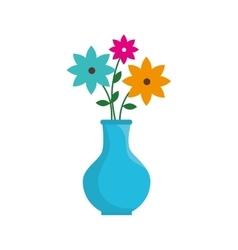 flower pot floral decoration icon graphic vector image