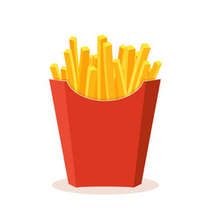 french potato pack box cartoon fastfood fry vector image