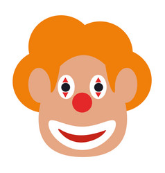 Funny clown mask vector