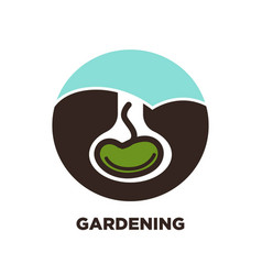 gardening plant see in earth icon vector image