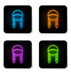 Glowing neon braid icon isolated on white vector