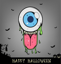 Halloween eye ball monster vector image