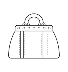 Hand bag isolated Linear flat icon object vector image