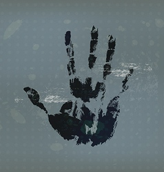 hand print with vintage background vector image