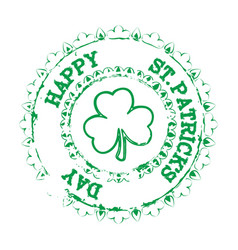 happy patrick stamp vector image