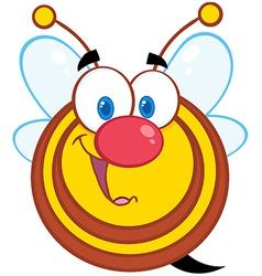 Honey Bee Cartoon Mascot Character vector