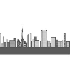 Isolated tokyo cityscape vector
