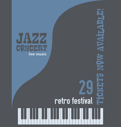 Jazz music festival poster background vector