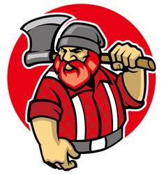 Lumberjack mascot vector