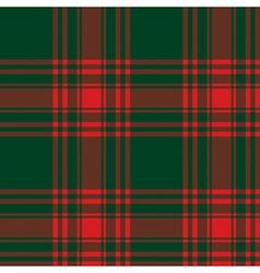 Menzies tartan green red kilt skirt fabric texture vector image