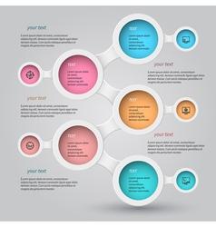 Metaball infographics 6 vector image