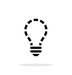 No light icon on white background vector image
