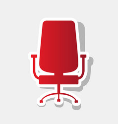 office chair sign new year reddish icon vector image
