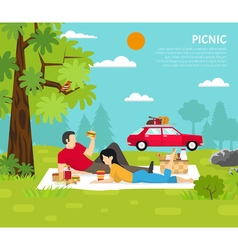Outdoor Picnic vector