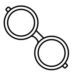 protect glasses icon outline style vector image