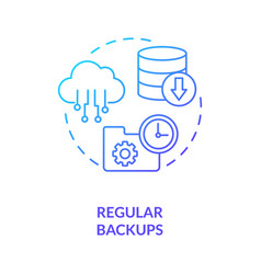 Regular backups concept icon vector