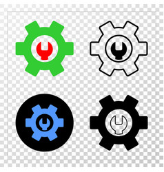 repair options eps icon with contour vector image
