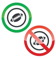 Rugby permission signs vector image