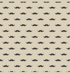 Seamless pattern with mustache vintage retro vector