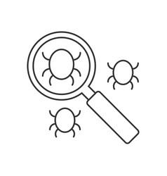 search bug line icon vector image vector image