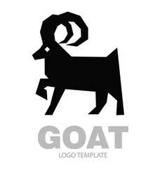 Silhouette stylized drawing goat or nanny vector