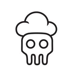 skeleton skull chef logo vector image