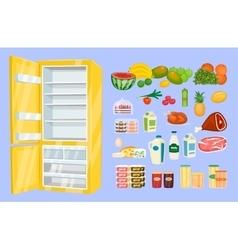 Space Organization in Freezer Flat Design Concept vector image