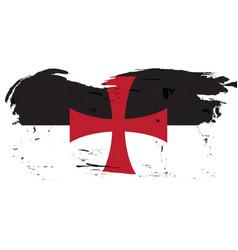 Standard of the knights templar in grunge vector