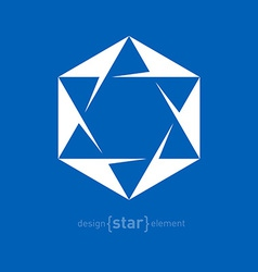 Star of David Jewish Abstract design element vector image