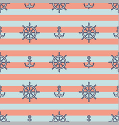 Striped nautical pattern vector